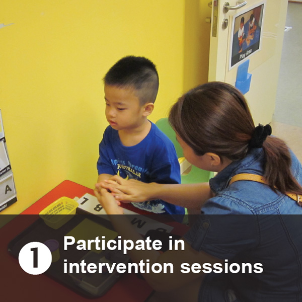 Participate in intervention sessions